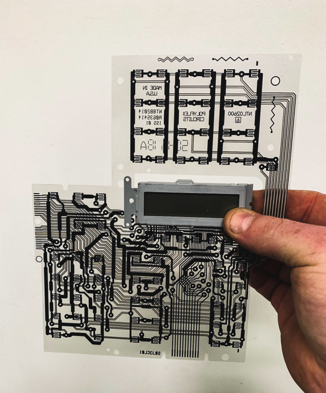 Transparent printed circuit acetate
