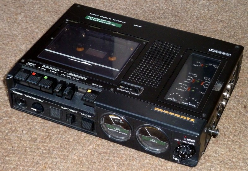 Marantz reporters portable casette tape recorder