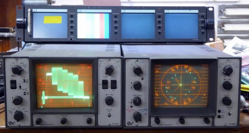 Video waveform monitors & vector displays