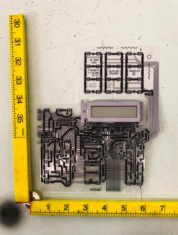 Transparent printed circuit acetate | Electro Props Hire