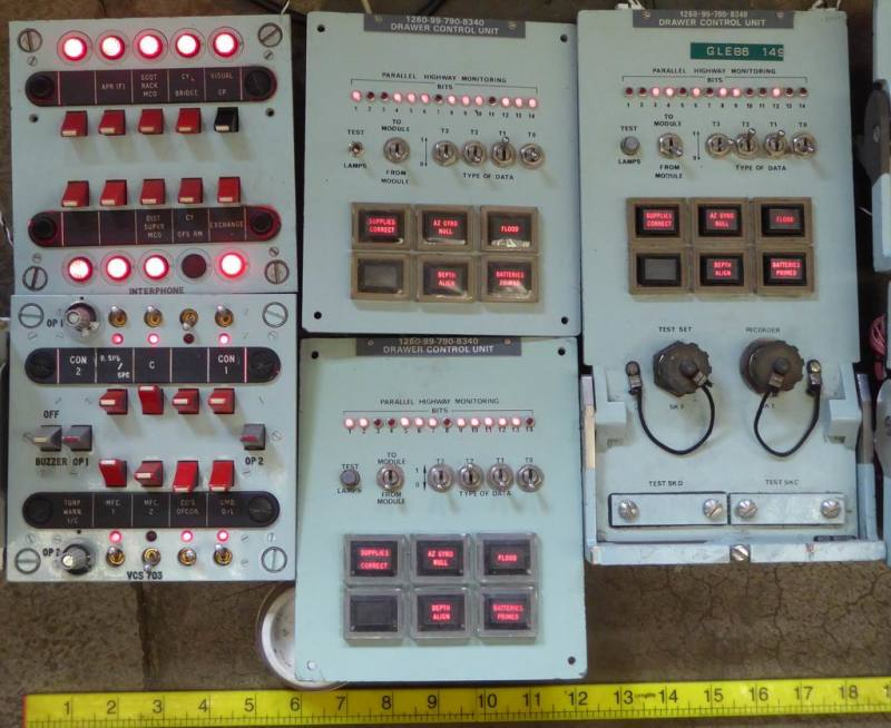 Example Selection of fully practical British navy/cold war control panels with switches & lamps