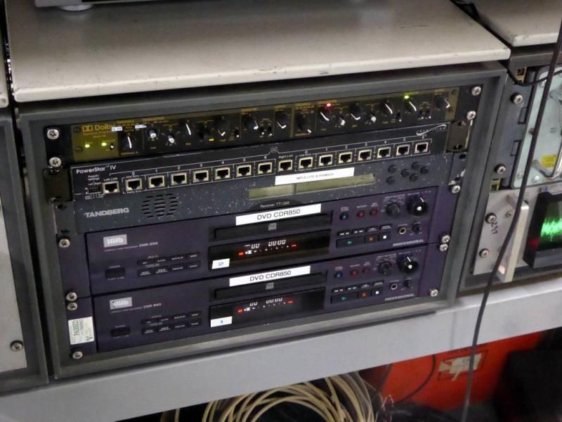 Practical desktop cabinet with black panels