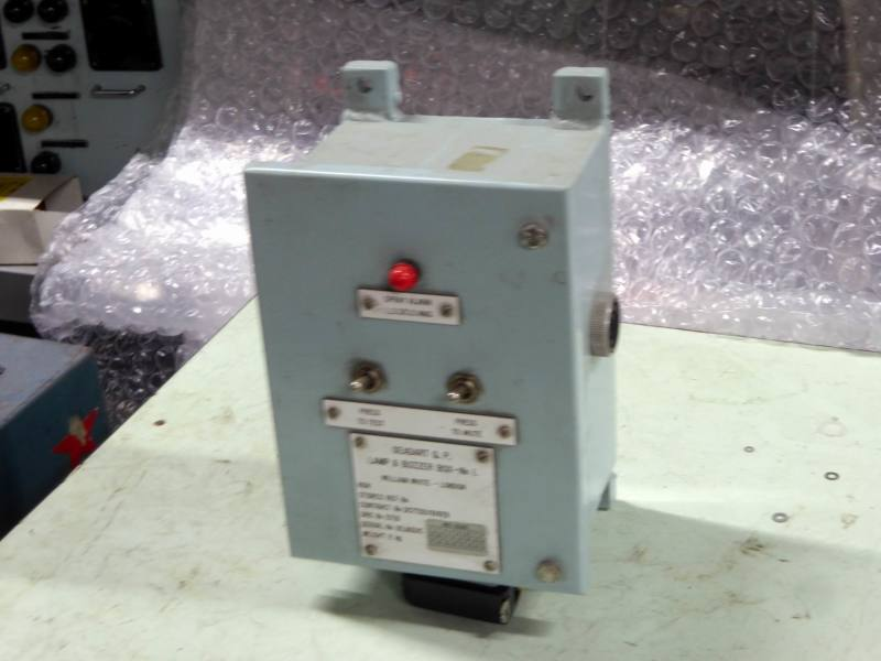 Non-practical navy control panel with red lamp & twin switches