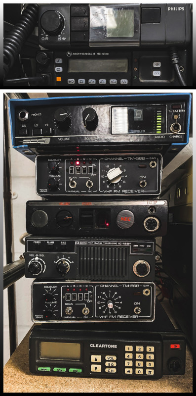 Example Selection of base station or vehicle mounted CB radios