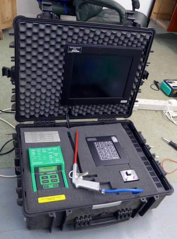 Gas/liquid sampling technical prop in Peli case