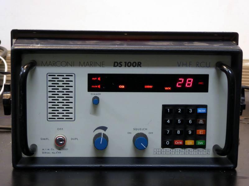 Practical marine VHF radio control panel for boat/ship's bridge