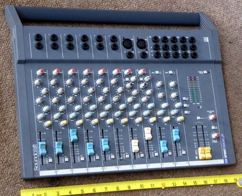 Portable console audio mixer