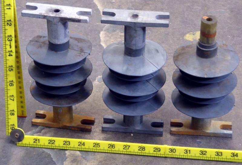 Electricity pole insulators