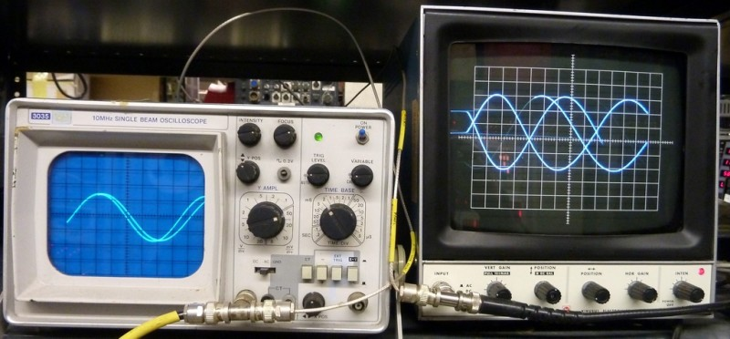 Two practical laboratory oscilloscopes
