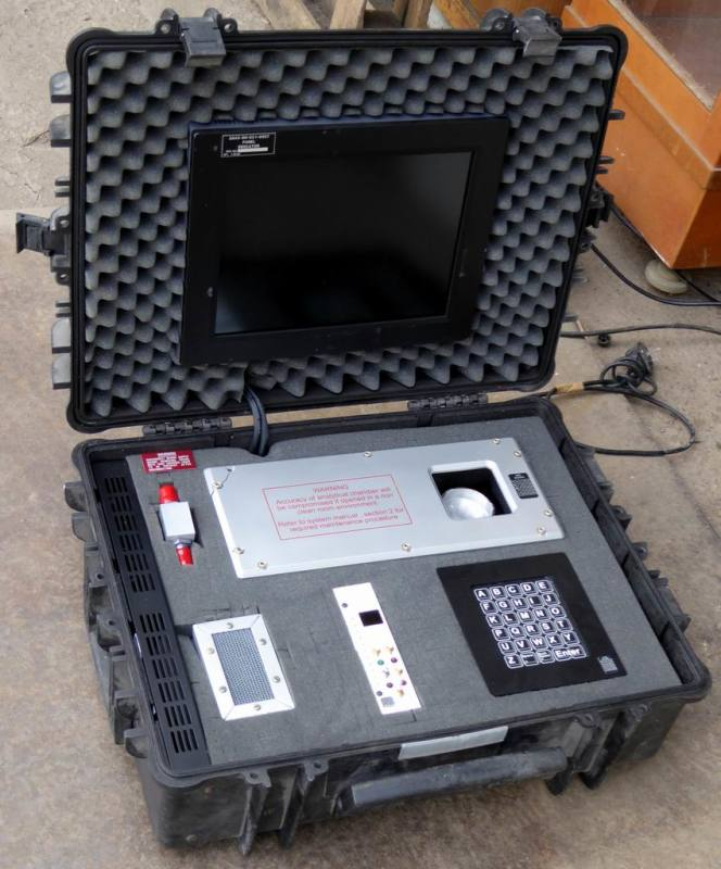 Practical chemical analysis system in rugged Peli case