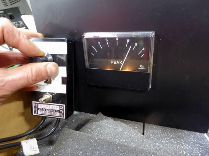 Practical, controllable Peak Program Meter (VU, Volume Unit), moving needle dial or gauge