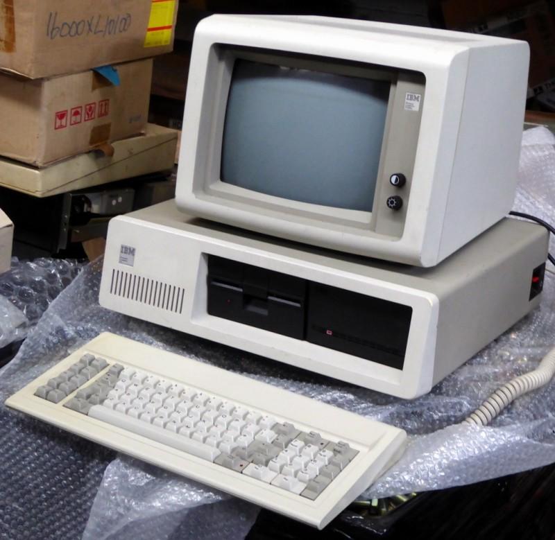 Period IBM computer, monitor & keyboard