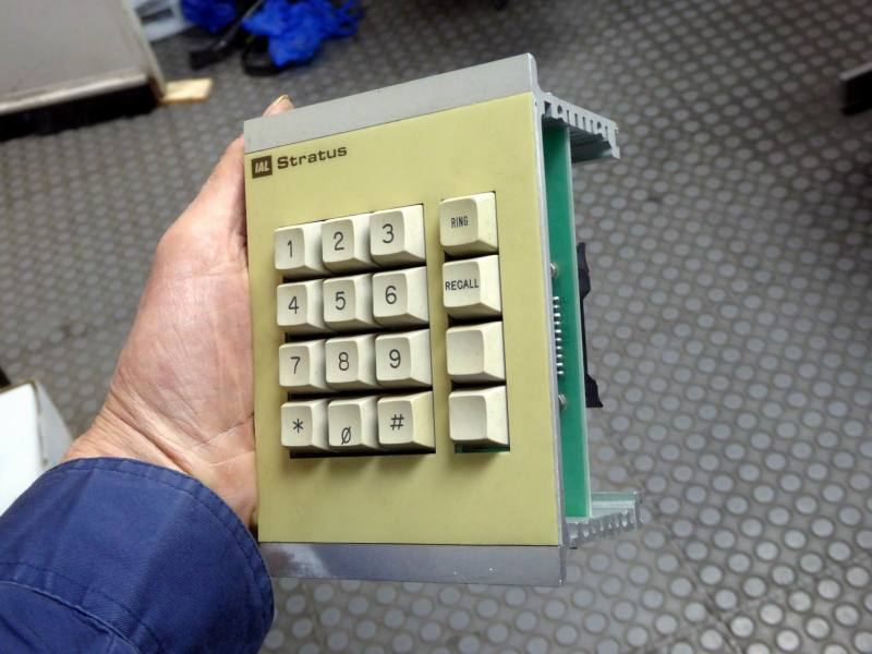 Panel mounting numeric keypad in beige