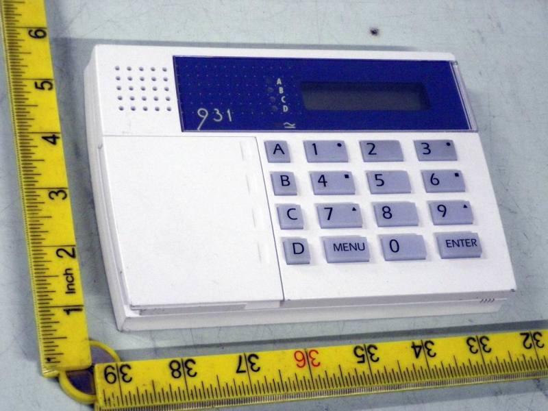Wall mounting alarm control panel