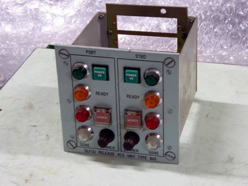 Non-practical navy control panel with coloured lamps