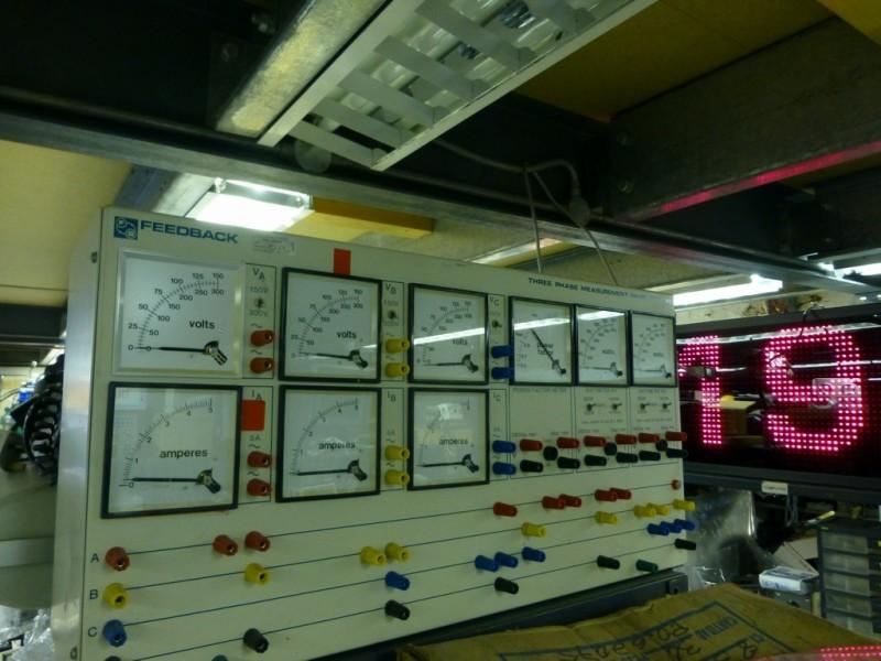Large multi-meter control panel