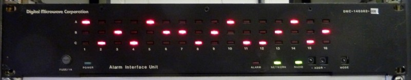 Black fronted hi-tech server panel