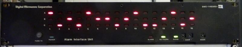 Black fronted hi-tech server panel