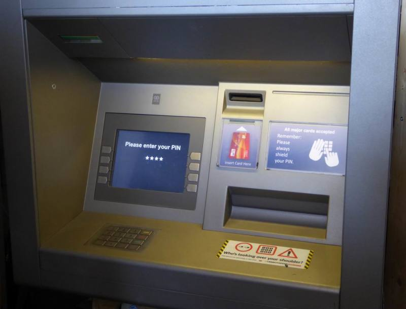 ATM cash dispenser machine non-practical
