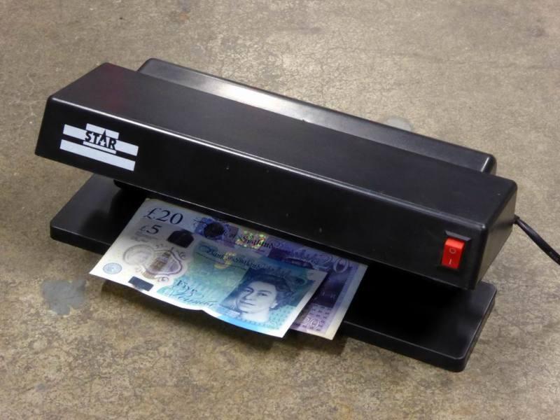 Practical ultra violet/UV bank note scanner/forgery detector