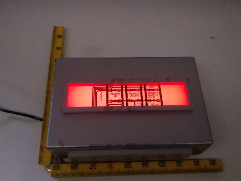 Light box with 17cm x 3.5cm aperture.