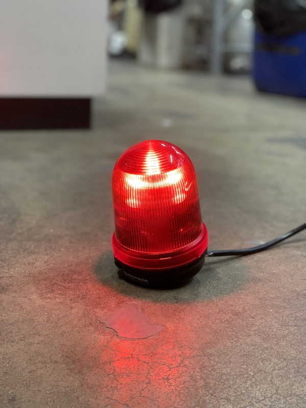 Small Red Practical beacon light (Static/no flash)