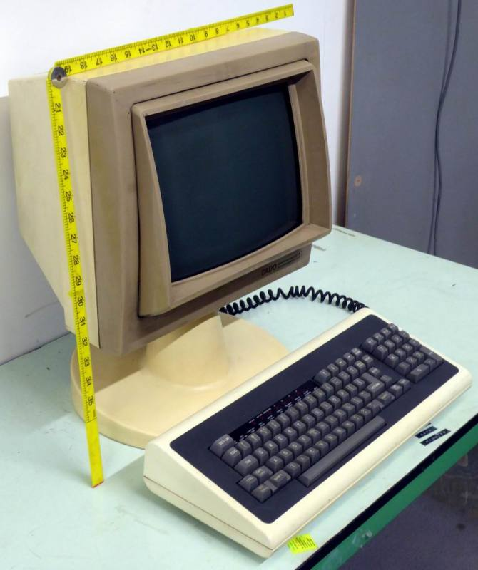 Stylish 1970s-1980s stalk computer terminal