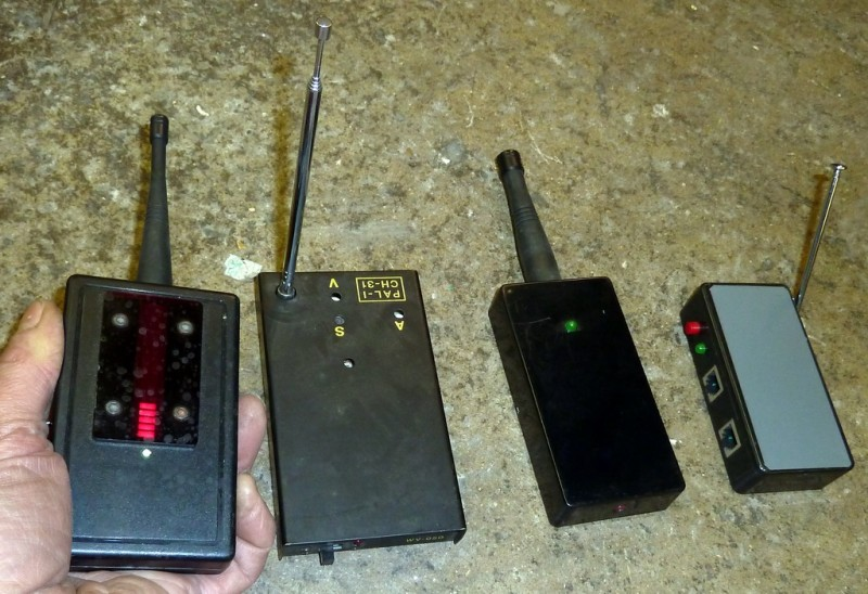 Example Selection of Handheld bug detectors/sweepers