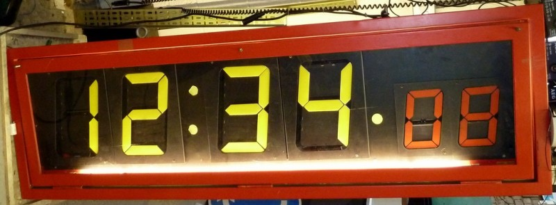 Genuine British Rail digital station clock