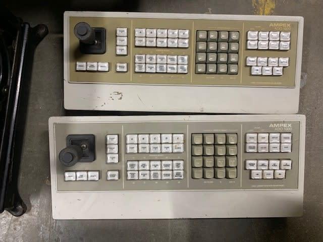 Vintage AMPEX CCTV controller keyboards