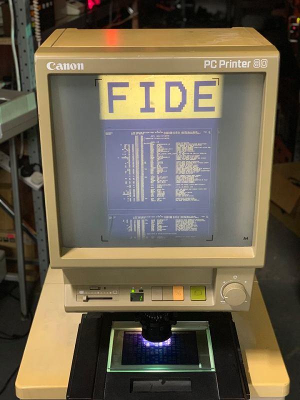 Canon PC Printer Microfiche viewer and printer