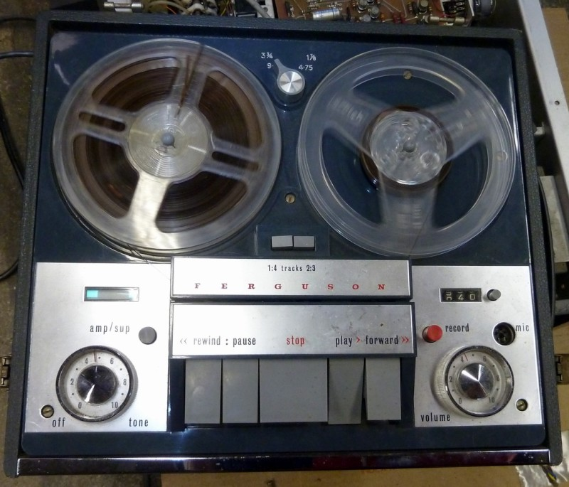 Practical Ferguson 1960s reel to reel tape recorder