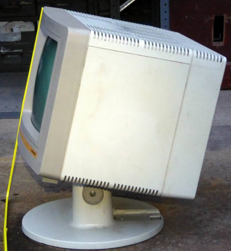 1970s VDU/computer terminal monitor on a stalk