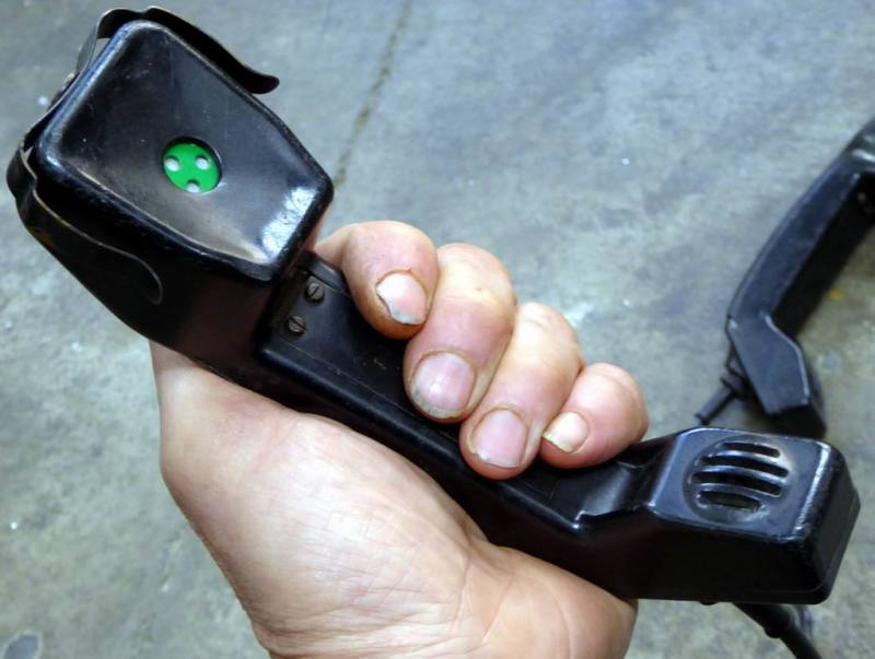 Military Clansman radio/phone handsets