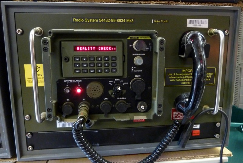 Military communications panel with programmable LED alphanumeric display