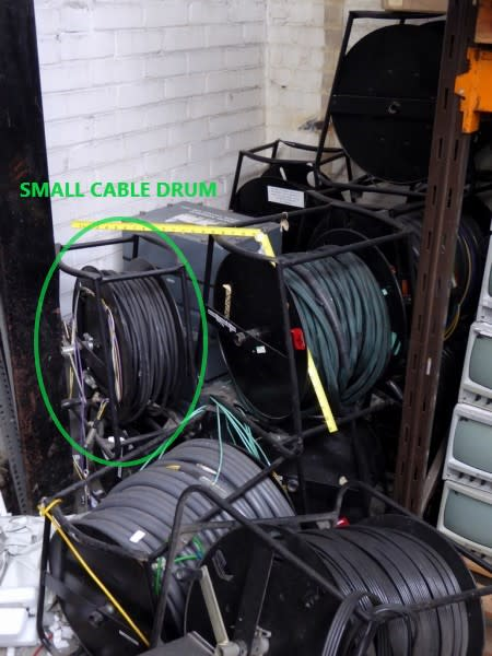 Small sized - Heavy duty cable drums on frames
