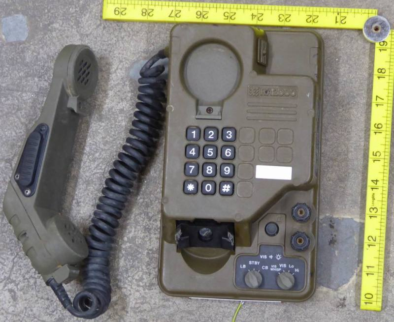 Ruggedised military/army telephone