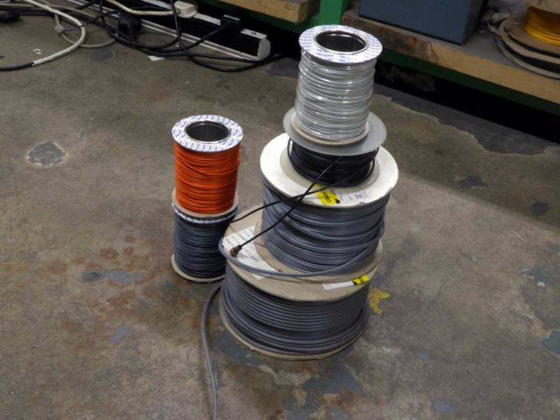 Colorful cable drums