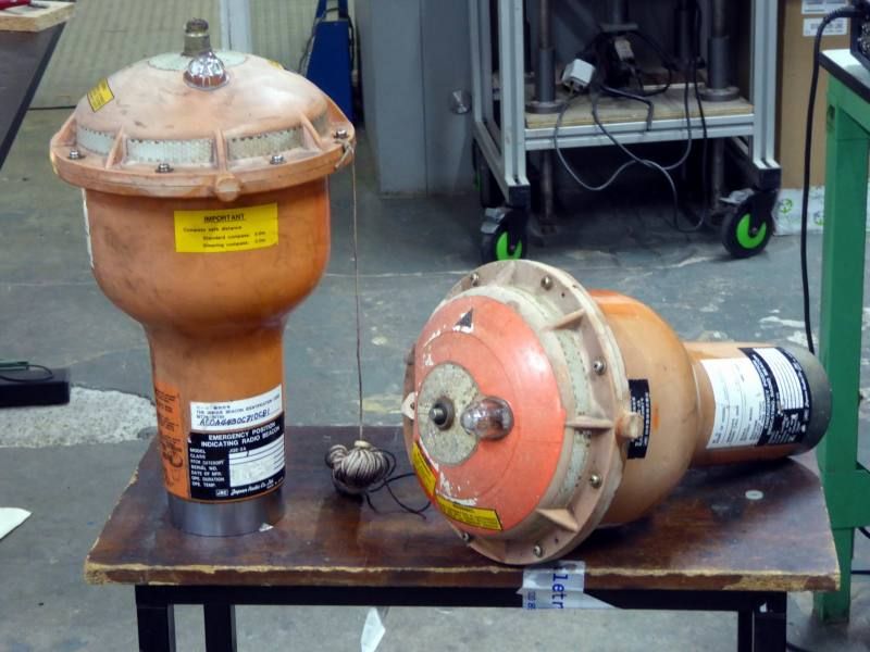 Floating emergency position indicating radio beacons