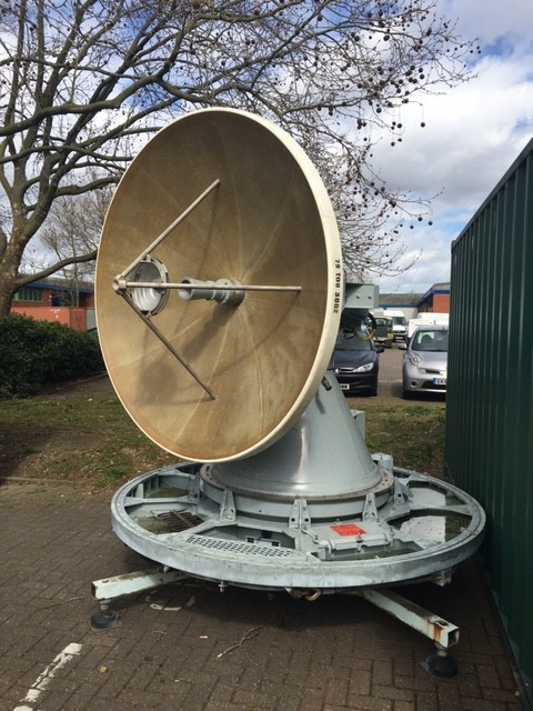 Navy ship's steerable radar dish