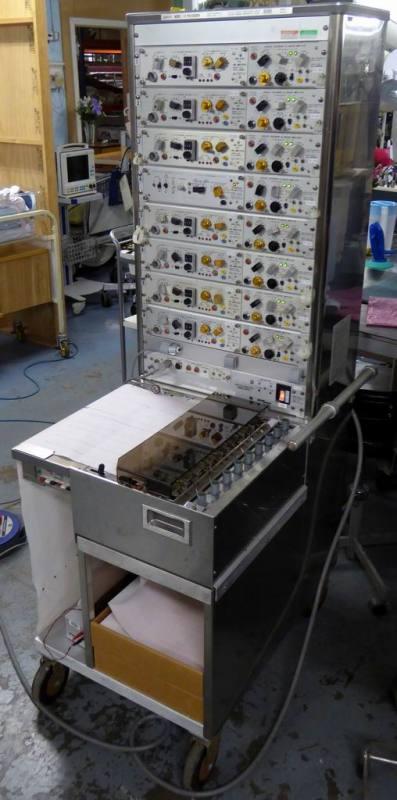 Large floorstanding 8 pen lie detector/alternative fact tester
