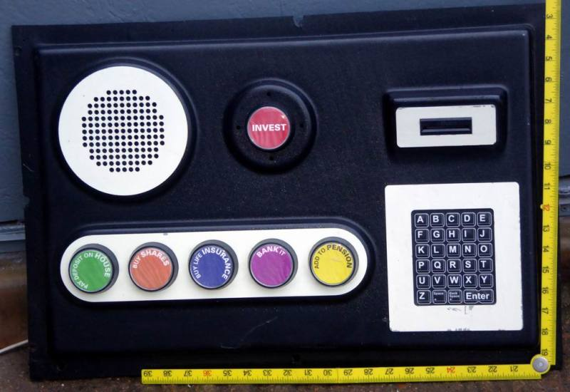 Distinctive control console with big bold buttons