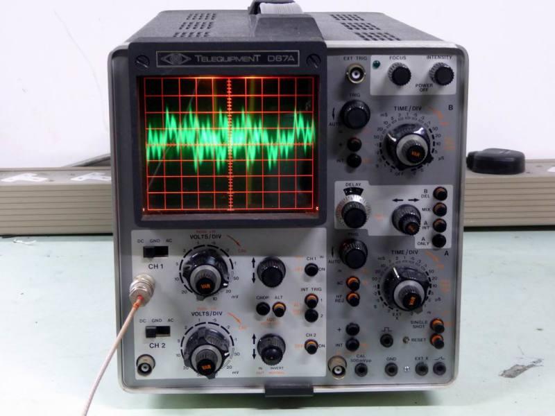 Practical Telequipment D67A workbench oscilloscope