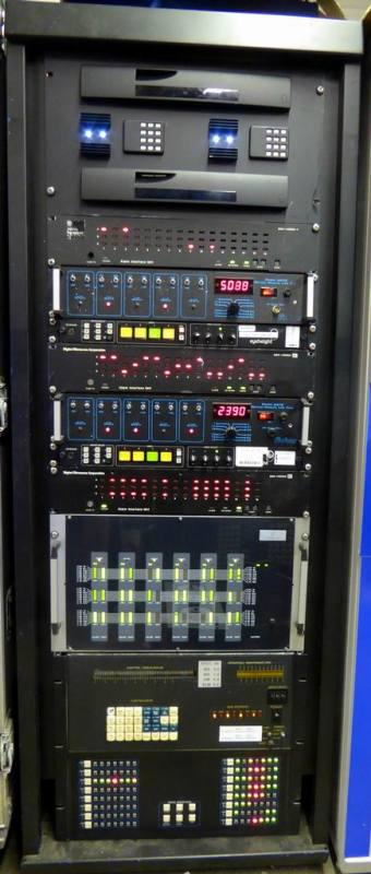 Hi tech black 5ft rack with practical panels