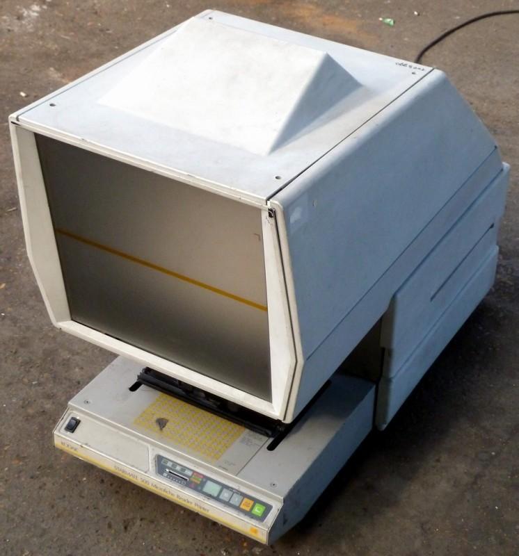 Large white microfiche viewer