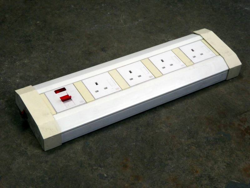 Wall mount mains electric power socket strips