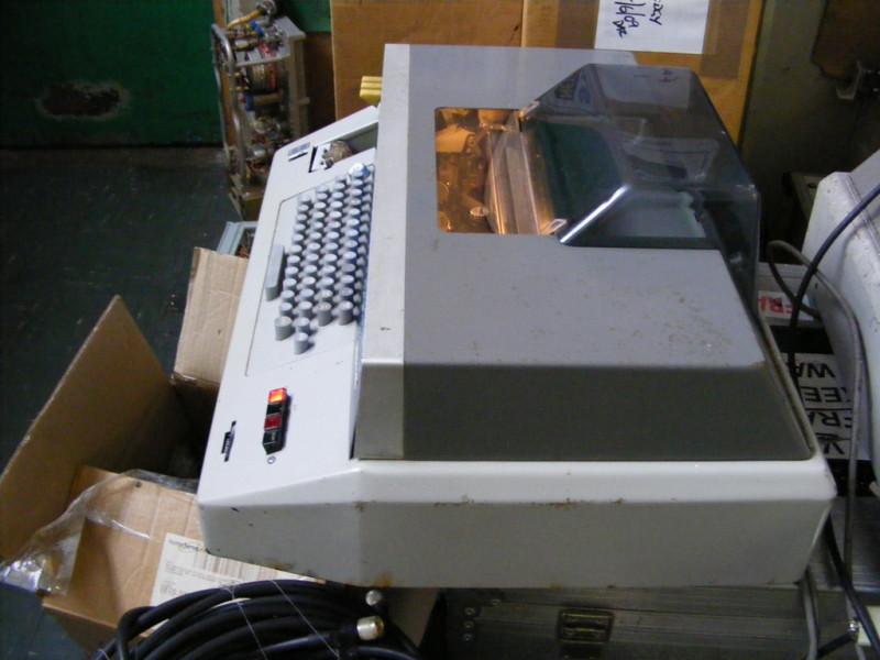 Practical period teleprinter, telex, Teletype, ticker tape machine