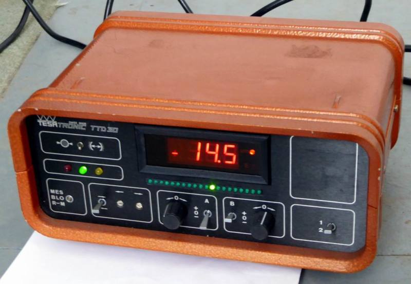 Practical orange box with digital display & LEDs