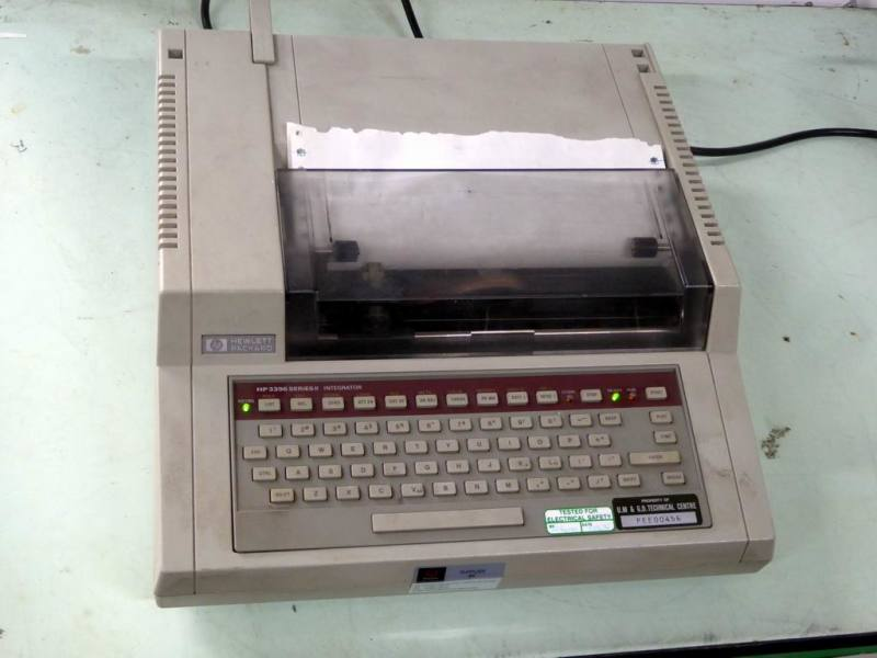 Hewlett Packard 3396 desktop chromatography printing computer
