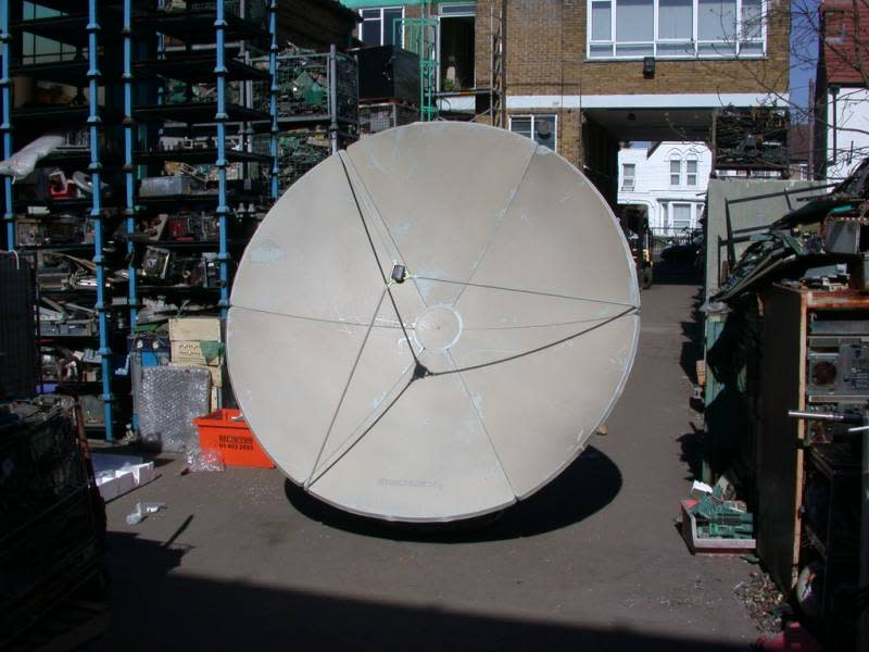 2.4 metre flat-pack giant satellite dishes